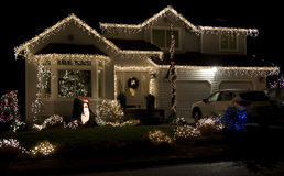 Free Beautiful Christmas Lighting House Stock Photo - 49006070