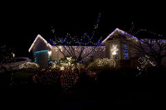 Beautiful christmas lighting house Royalty Free Stock Photo