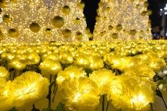 Beautiful Christmas lights display. Stock Image