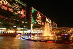 Beautiful Christmas lights display at TST. Beautiful Christmas lights display at Tsim Sha Tsui royalty free stock image