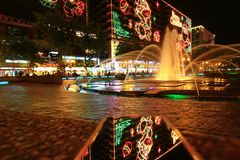 Beautiful Christmas lights display at TST. Beautiful Christmas lights display at Tsim Sha Tsui stock photography