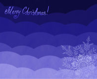 Beautiful Christmas (New Year) background with snowflakes for design use. Royalty Free Stock Photos
