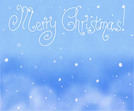 Beautiful Christmas (New Year) background with snowflakes for design use Stock Image