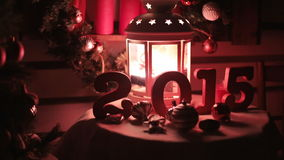 Beautiful Christmas and New Year decorations in stock video