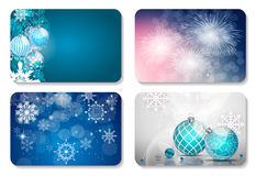 Beautiful Christmas and New Year Gift Card Template Set. Vector Royalty Free Stock Photography