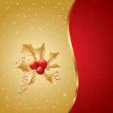 Beautiful Christmas and New Year Illustration. With holly berries Stock Image