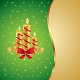 Beautiful Christmas and New Year Illustration. With candles Royalty Free Stock Photography
