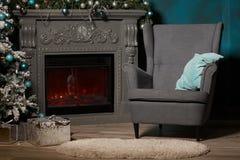 Beautiful Christmas and New Year interior. Stock Photos