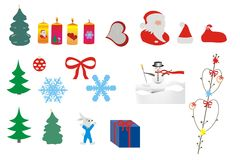 Beautiful Christmas and New Year's background Royalty Free Stock Photos