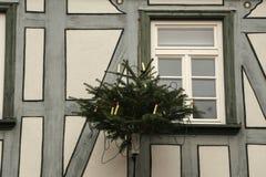 Beautiful Christmas and New Years scene. / Christmas market Stock Photos