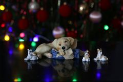 Beautiful Christmas and New Years scene. / Christmas market Royalty Free Stock Photo