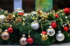 Beautiful Christmas and New Years scene. / Christmas market Royalty Free Stock Image