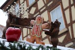 Beautiful Christmas and New Years scene. / Christmas market Stock Photography