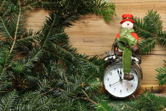 Beautiful Christmas and New Years scene Stock Images