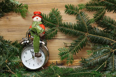 Beautiful Christmas and New Years scene Royalty Free Stock Photography