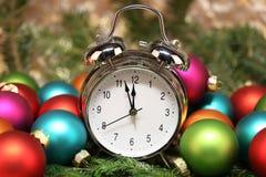 Beautiful Christmas and New Years scene Stock Photos