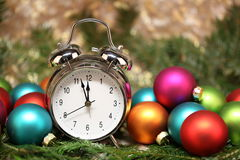 Beautiful Christmas and New Years scene Royalty Free Stock Image