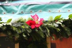 Beautiful Christmas and New Years scene. / Christmas market Royalty Free Stock Photos