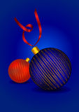 Beautiful christmas ornament balls Royalty Free Stock Photography