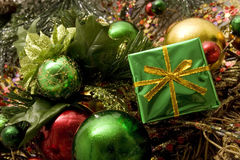 Beautiful Christmas Ornaments Stock Photography