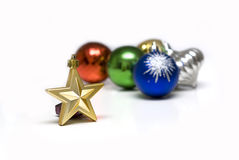 Beautiful Christmas ornaments backgrounds. With white backgrounds Stock Photography