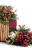 Beautiful Christmas Present with Decorations Stock Image