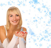 Beautiful Christmas princess royalty free stock image