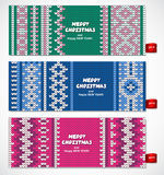 Beautiful Christmas set of banners with lace Stock Images