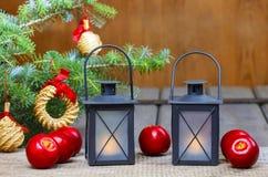 Beautiful christmas setting Stock Images
