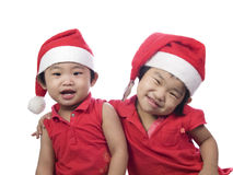Beautiful Christmas Sisters Stock Photo