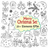Beautiful Christmas Sketch Collection Stock Image