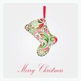 Beautiful Christmas sock. Stock Images