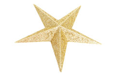 Beautiful Christmas Star. Isolated on White stock photography
