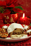 Beautiful Christmas still life with cake Royalty Free Stock Images
