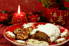 Beautiful Christmas still life with cake Stock Photography