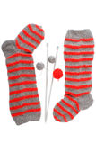 Beautiful Christmas stockings Stock Images
