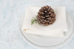 Beautiful Christmas table Royalty Free Stock Photos