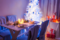 Beautiful Christmas table setting Royalty Free Stock Photos