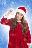 Beautiful Christmas teenage girl Royalty Free Stock Photos