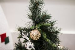 Beautiful Christmas Tree and ball Decoration stock photos