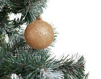 Beautiful Christmas tree with decor n white background, closeup. Celebration time. Beautiful Christmas tree with decor on white background, closeup. Celebration Royalty Free Stock Images