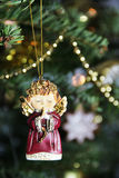 Beautiful Christmas Tree Decorated With Toy Royalty Free Stock Images