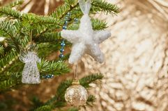 Beautiful Christmas tree and decoration Stock Photo