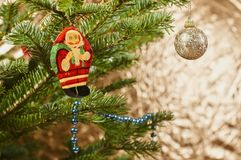 Beautiful Christmas tree and decoration Royalty Free Stock Photography