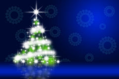 Beautiful Christmas tree illustration Stock Photo