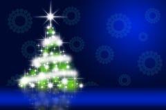 Beautiful Christmas tree illustration Stock Photo