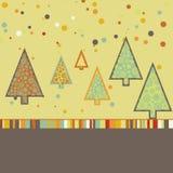 Beautiful Christmas tree illustration. EPS 8 Stock Photography