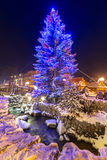 Beautiful Christmas tree at Krupowki street in Zakopane Stock Photo