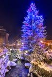Beautiful Christmas tree at Krupowki street in Zakopane Royalty Free Stock Photography