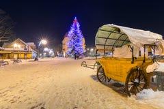 Beautiful Christmas tree in Zakopane Stock Photo